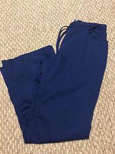 Greys Anatomy Womens Scrub Pants Small Royal Blue Style 4232p Stretch Tie Waist