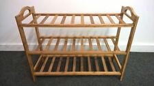 3 level Wooden Shoe Rack Oragniser Storage 3 Tier Shelf Standing