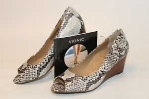 Vionic Womens NEW Size 8 39 Proud Bria Slip On Wedge Heel Pumps Shoes 389