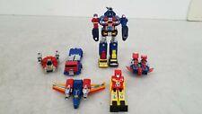 Vintage Transforming Robots 6x Lot w/ Dairugger & Diaclone King Dam