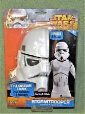 Disney STAR WARS Childrens Costume STORM TROOPER 2 Piece Full Suit/Mask Sz 8-10