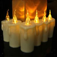 Candele a LED senza fiamma tremolanti alimentate a batteria per regali e