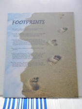 """16"""" x 20"""" Art Poster, Footprints in the Sand, Inspirational Christian Poem Verse"""