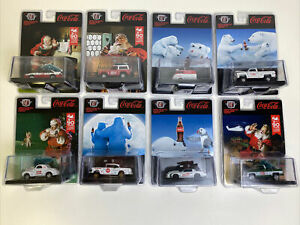 2021 M2 MACHINES Coca Cola Christmas COMPLETE Set Of 8 DieCast Limited Edition!