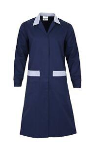 Women Medical Nurse Dress Hospital Doctor Coat Scrub Lab  Carers Uniform NHS