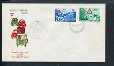 Ned.Nieuw Guinea FDC E8 - E 8, Veilig Verkeer 1962, blanco, ds Hollandia HB