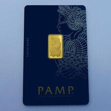 999 Gold Goldbarren Fortuna Pamp Suisse 2,5 Gramm im Blister mit Zertifikat