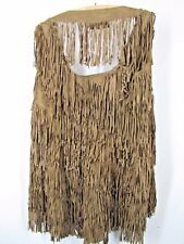 All Saints Spitalfields Fringed Brown Goat Suede Leather Vest