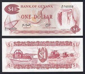 Guyana 1 dollar 1989 FDS/UNC  B-02