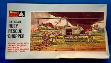 "New ListingHuey Rescue Chopper Monogram Plastic Model Complete New Open Box 1/4"" scale 1997"