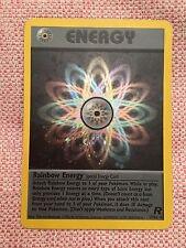 Pokemon Card - Holographic Rainbow Energy - Copyright 1995, 1996, 1998