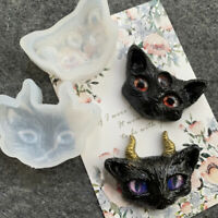 Devil Cat Silicone Jewelry Making Mould DIY Tool Epoxy Resin Handmade Craft3C