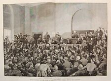 1881 TRIAL OF GUITEAU FOR THE MURDER OF PRESIDENT GARFIELD COURTROOM JUDGE COX