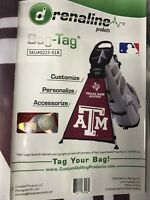 Adrenaline Products Bag Tag NCAA Golf Bag Accessory Select Your Team NEW !
