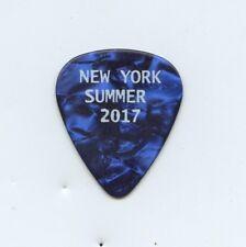 PAUL McCARTNEY ex Beatles Guitar Pick Blue White Letters - NEW YORK Summer 2017