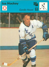 GORDIE HOWE 1977 Sportscaster HOCKEY card #02-06 HOUSTON AEROS