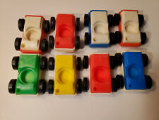 Vintage Fisher Price Play Family #930 and #2504 GARAGE 1970-1990 4 CAR SET + 4