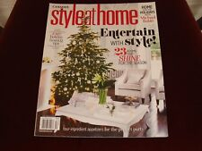 Canada's Style at Home Magazine December 2015 Michael Buble at Home Christmas