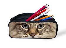 Cat Pencil Case Bag Student School Pen Container Case Bag Stationery Bag Gift