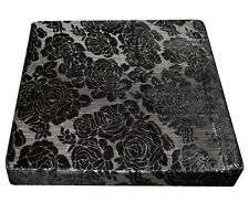 *Limit Stock*Mq05t Metallic Rose Flower Black Velvet Box Sofa Seat Cushion Cover