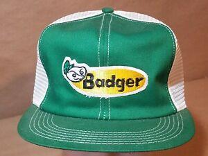 Vintage BADGER Mesh patch snapback Hat K-Products USA
