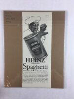 Vintage 1924 Heinz Cooked Spaghetti Food Art Print Collectible Ad 5.5 x 14