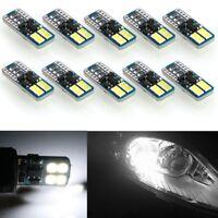 10x CANBUS ERROR FREE LED White T10 194 168 2825 W5W Wedge 8 SMD 3030 Light Bulb