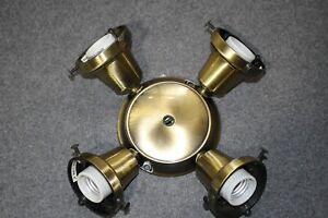 """Casablanca Antique Brass K4S-4 2.25"""" Shade Ceiling Fan Light Kit Fixture Fitter"""