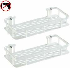 2 Pack Bathroom Shelf Shower Caddy Storage Organiser Self Adhesive Mount WHITE