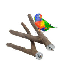 Pet Parrot Two Branch Raw Tree Branch Perches For Bird Cage Bird Toy Bite Toy