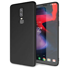 OnePlus 6 Case, Slim Silicone Ultra Soft Gel Best Phone Cover - Matte Black