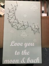 Wholesale 240 wooden wall plaque string art Love You To The Moon & Back Job Lot