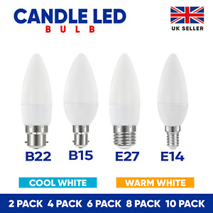 LED Candle Light Bulb B15 B22 E14 E27 Energy Saving Lamp Warm Cool Day White A+