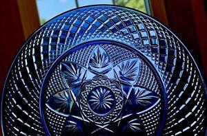 "4 - Cris d""Arques Durant Luminarc Sapphire Glass Salad Plate 8"""