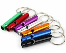 10Pcs Mixed Lots Aluminum Survival Whistle Key Chain Outdoor Sports Camping
