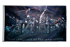 Fahne Flagge Biker Totenkopf - 90 x 150 cm Hissflagge