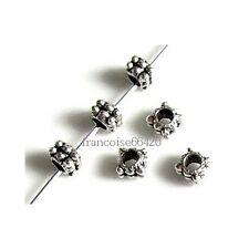 25 Intercalaires spacer Carré arg 4x4x3.5mm Perles apprêts création bijoux _A322