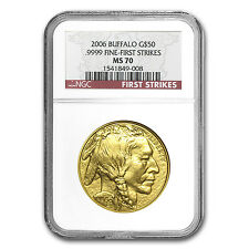 2006 1 oz Gold Buffalo Coin - MS-70 First Strikes NGC - SKU #17870