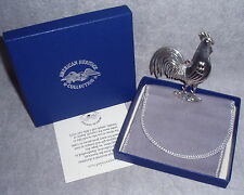 MIB 1981 Stieff American Heritage Series Sterling Rooster Xmas Ornament Pendant
