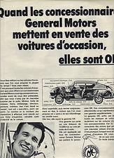 PUBLICITE  1968     GENERAL MOTORS    tout est OK