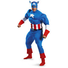 Captain America Classic Adult Muscle Superhero Costume 42-46 NWT Disguise 5020