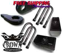"""Crown Suspension 1997-2003 Ford F150 3""""F/4""""R Lift Kit Springs Coil Spacers Block"""
