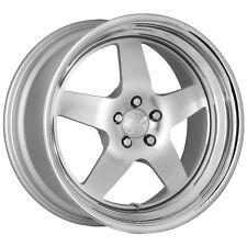 18X9.5 +30 Klutch SL5 5x114.3 Silver Wheels Fit WRX STI G35 G37 350Z 370Z 300ZX