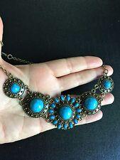 Glamorous Vintage Style Bronze Turquoise Fashion Necklace Choker N1001