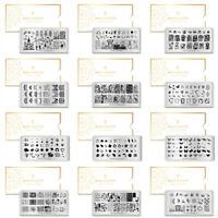 BORN PRETTY Nail Stamping Plates Nail Art Stamp Stencil Templates  Tool