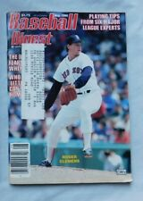 August 1986 Baseball Digest Roger Clemens Boston Red Sox