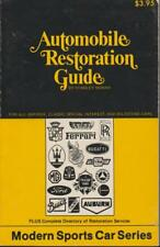 Automobile Restoration Guide Antique Classic Special Interest Milestone 1974