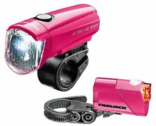 TRELOCK I-GO Sport LS 350 LS 710 pink Batterie Fahrrad Beleuchtung Licht Set ()