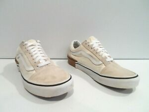 Vans Old Skool Mens Shoes Size 7.5 Beige Gray Skate Off the Wall Athletic 500714