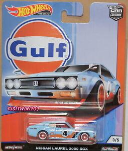 HOT WHEELS 2019 CAR CULTURE GULF RACING NISSAN LAUREL 2000 SGX #3/5